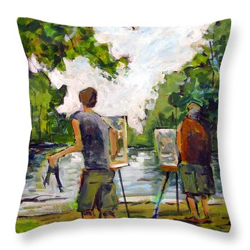 Buff And Tim Sold Throw Pillow