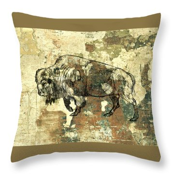 Buffalo 7 Throw Pillow