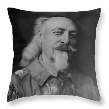 Throw Pillow featuring the photograph Buffalo Bill Cody by Charles Beeler