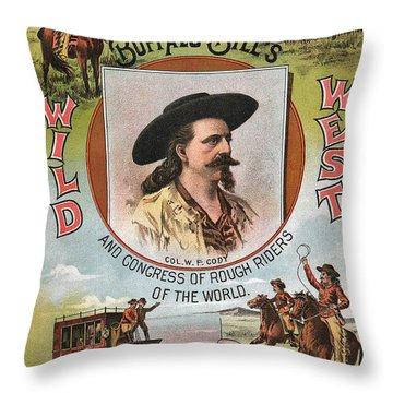 Buffalo Bills Wild West Throw Pillow by Unknown