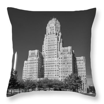 Buffalo City Hall 0519b Throw Pillow