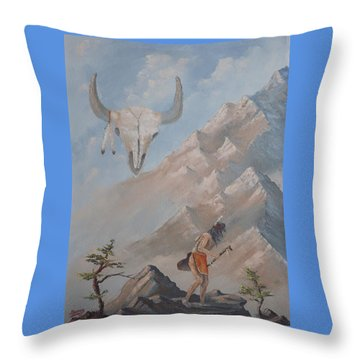 Buffalo Dancer Throw Pillow