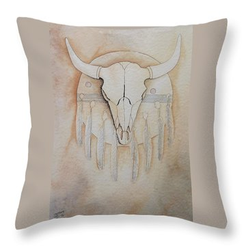 Buffalo Shield Throw Pillow
