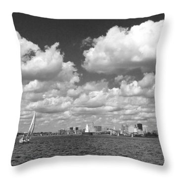 Throw Pillow featuring the photograph Buffalo Skyline by Cindy Haggerty