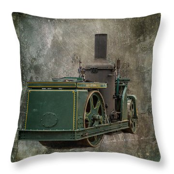 Buffalo Springfield Steam Roller Throw Pillow by Paul Freidlund