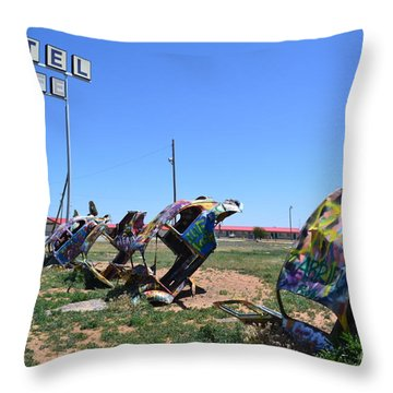 Bug Ranch Throw Pillow