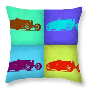 Bugatti Type 35 R Pop Art 1 Throw Pillow by Naxart Studio