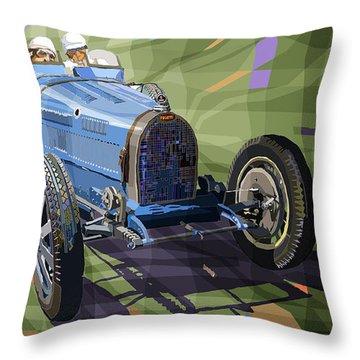 Bugatti Type 35 Throw Pillow by Yuriy Shevchuk