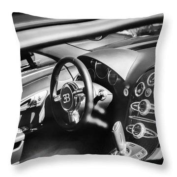 Bugatti Veyron Legend Steering Wheel -0484bw Throw Pillow