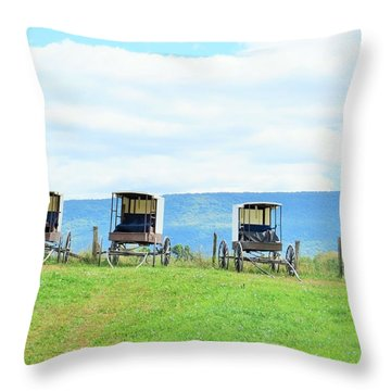 Buggies In A Row Throw Pillow