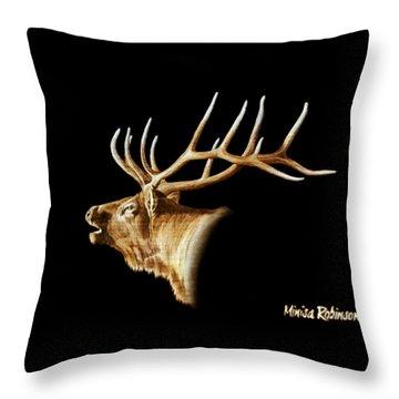 Bugle Throw Pillow by Minisa Robinson
