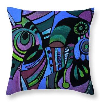 Bugs Throw Pillow by Deyana Deco