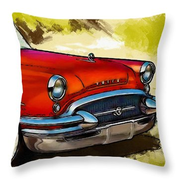 Buick Automobile Throw Pillow by Robert Smith