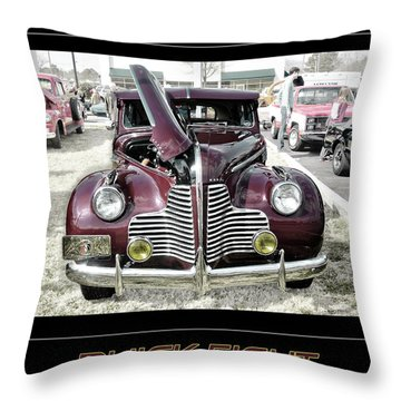 Buick Eight Retro Throw Pillow by Davina Washington