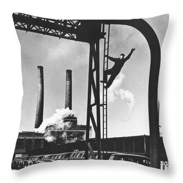 Buick Manufacturing Plant Throw Pillow