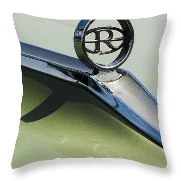 Buick Riviera Hood Ornament Throw Pillow by Jill Reger