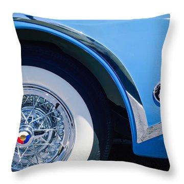 Buick Skylard Wheel Emblem Throw Pillow by Jill Reger