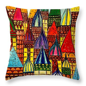Building A Village Throw Pillow