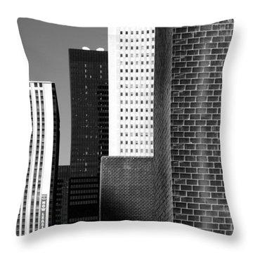 Building Blocks Black White Throw Pillow