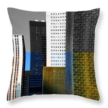 Building Blocks Cityscape Throw Pillow