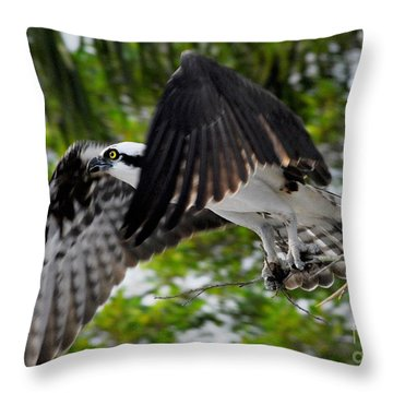 Building For The Future Throw Pillow by Quinn Sedam