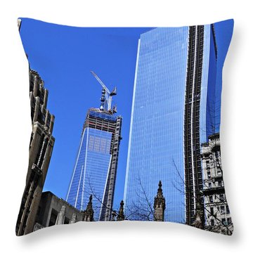 Building Freedom Throw Pillow by Sarah Loft