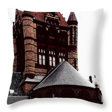 Throw Pillow featuring the photograph building of Boston by Rose Wang