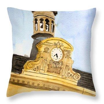 Building Top Paris Throw Pillow
