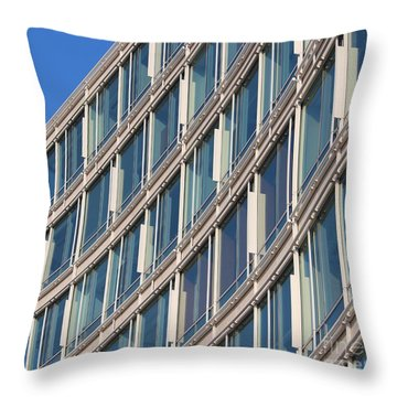 Building With Windows Throw Pillow
