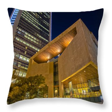 Buildings And Architecture Around Mint Museum In Charlotte North Throw Pillow