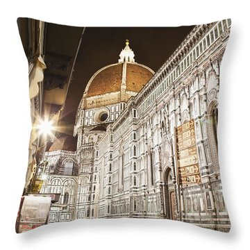Buildings And Florence Cathedral Throw Pillow