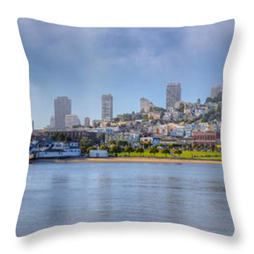 Buildings At The Waterfront, Fishermans Throw Pillow