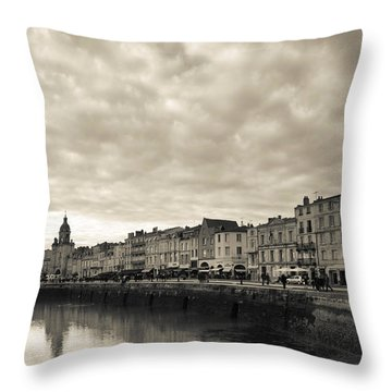 Buildings At The Waterfront, Old Port Throw Pillow