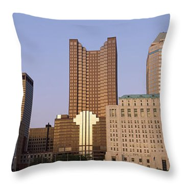 Buildings In A City, Columbus, Franklin Throw Pillow