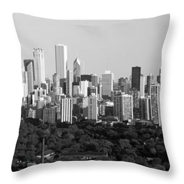 Buildings In A City, View Of Hancock Throw Pillow