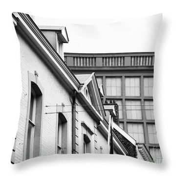 Throw Pillow featuring the photograph Buildings In Maastricht by Nick  Biemans