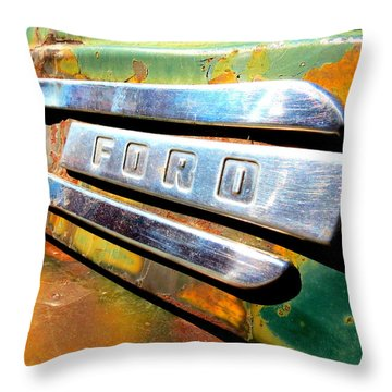 Built Ford Tough Throw Pillow