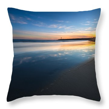 Bule Reflections Throw Pillow