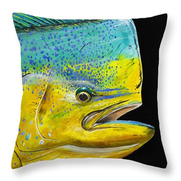 Bull Head Off0033 Throw Pillow by Carey Chen