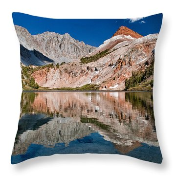 Bull Lake And Chocolate Peak Throw Pillow