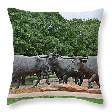 Bull Market Throw Pillow by Christine Till
