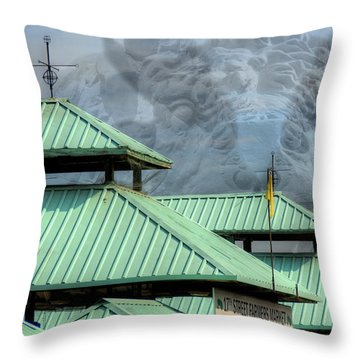 Throw Pillow featuring the photograph Bull Market by Kelvin Booker
