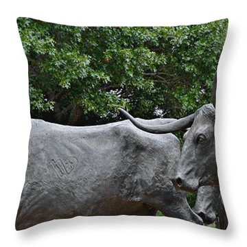 Bull Market Quadriptych 2 Of 4 Throw Pillow by Christine Till