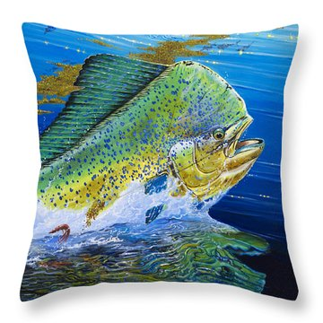 Bull Reflection Off0032 Throw Pillow by Carey Chen