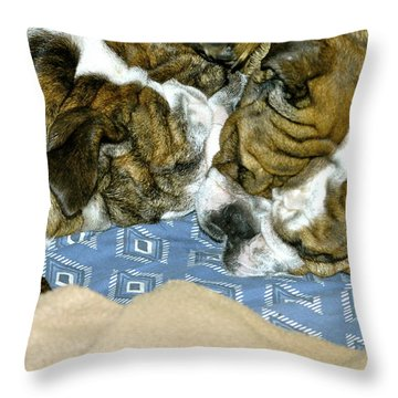 Bulldog Love Forever  Throw Pillow