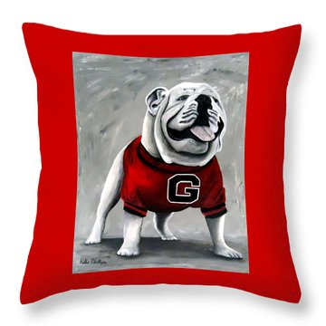 Uga Bullog Damn Good Dawg Throw Pillow