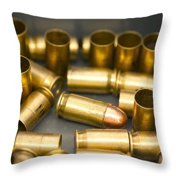 Throw Pillow featuring the photograph Bullet Art 3 by Artist and Photographer Laura Wrede
