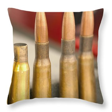 Throw Pillow featuring the photograph Bullet Art by Artist and Photographer Laura Wrede