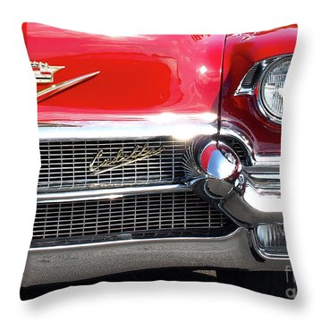 Bullet Bumpers - 1956 Cadillac Throw Pillow