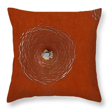 Bullet Hole Patterns Throw Pillow